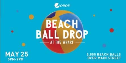 Beach Ball Drop at the Wharf in Orange Beach Alabama