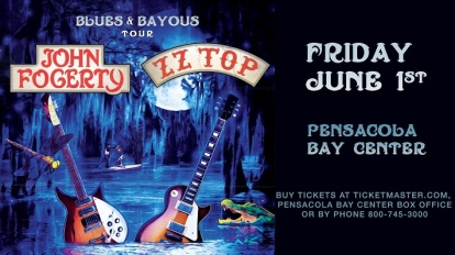 John Fogerty and ZZ TOP with Ryan Kinder at Pensacola Bay Center
